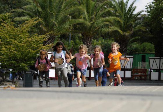 rennende kinderen