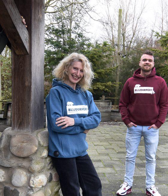 Medewerkers met Blijdorpert hoodie
