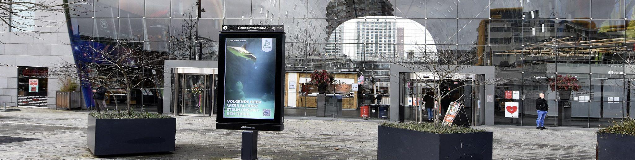 webcam haaienbassin bij markthal rotterdam