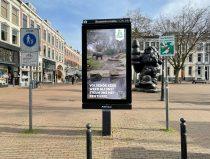 webcam olifanten op abri-scherm in binnenstad Rotterdam