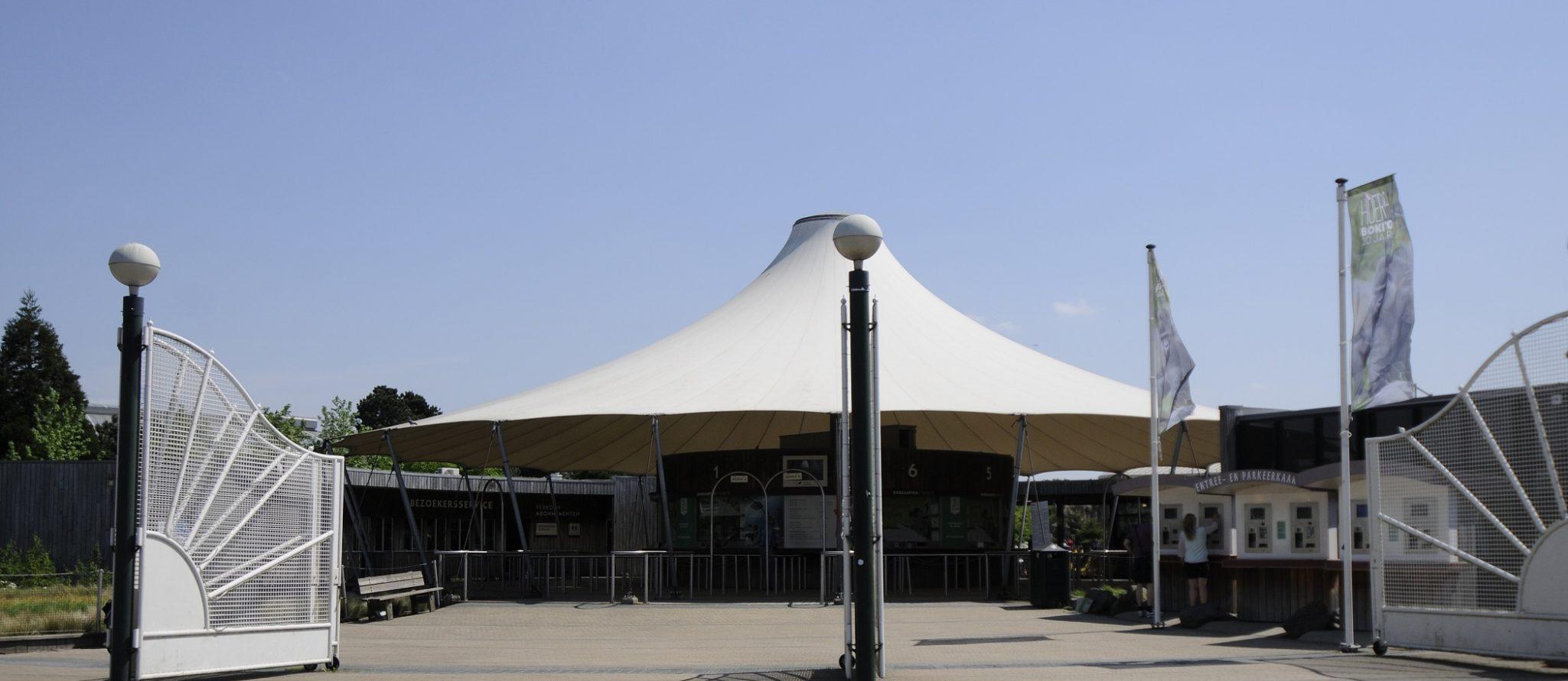 hoofdingang van Diergaarde Blijdorp