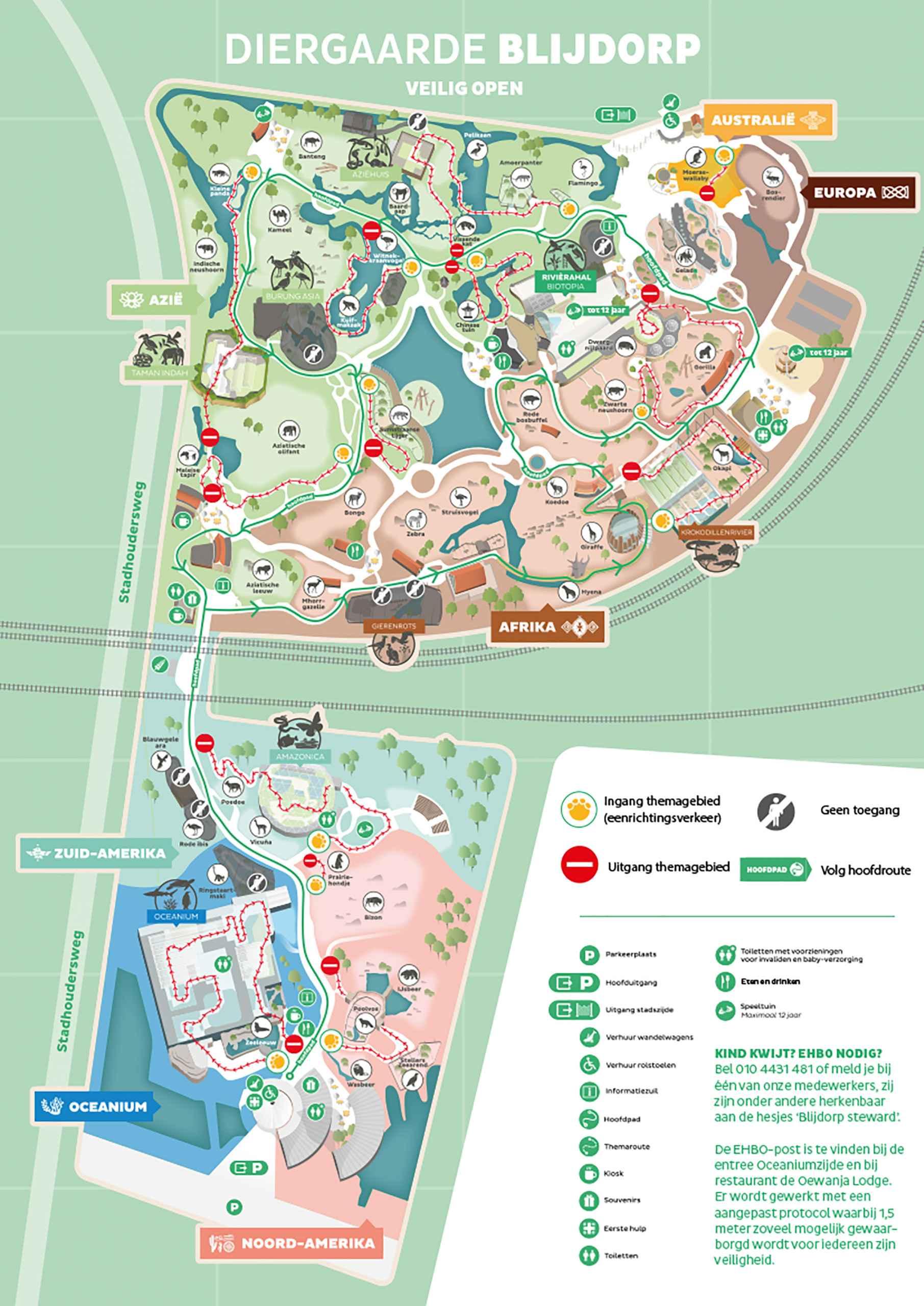 plattegrond diergaarde blijdorp JUNI_2021